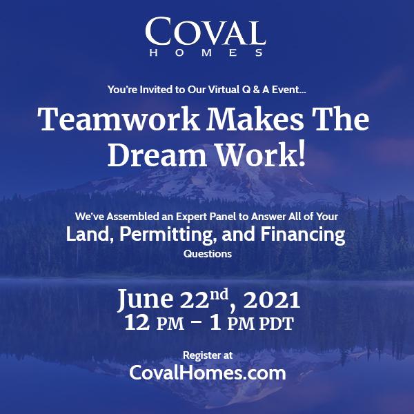 Teamwork Makes The Dream Work — Virtual Q & A!